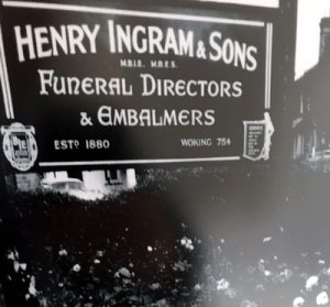 Woking Funeral Service was founded by Mr Henry Ingram at Goldsworth Road in 1880